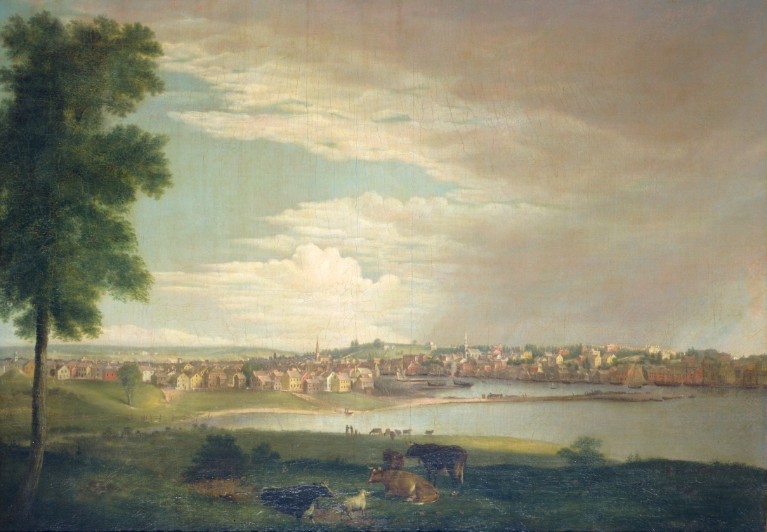 Alvan Fisher, Providence From Across the Cove, (Actually from across the river near the hospitals) 1822